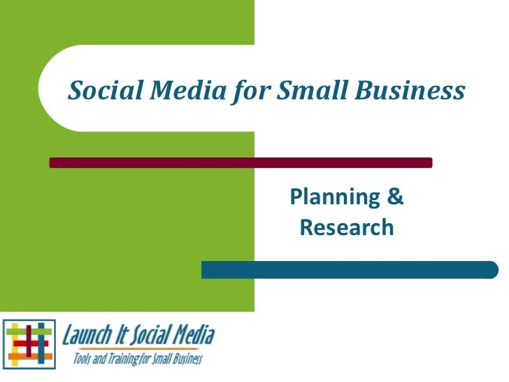 Social Media for Small Business Planning & Research