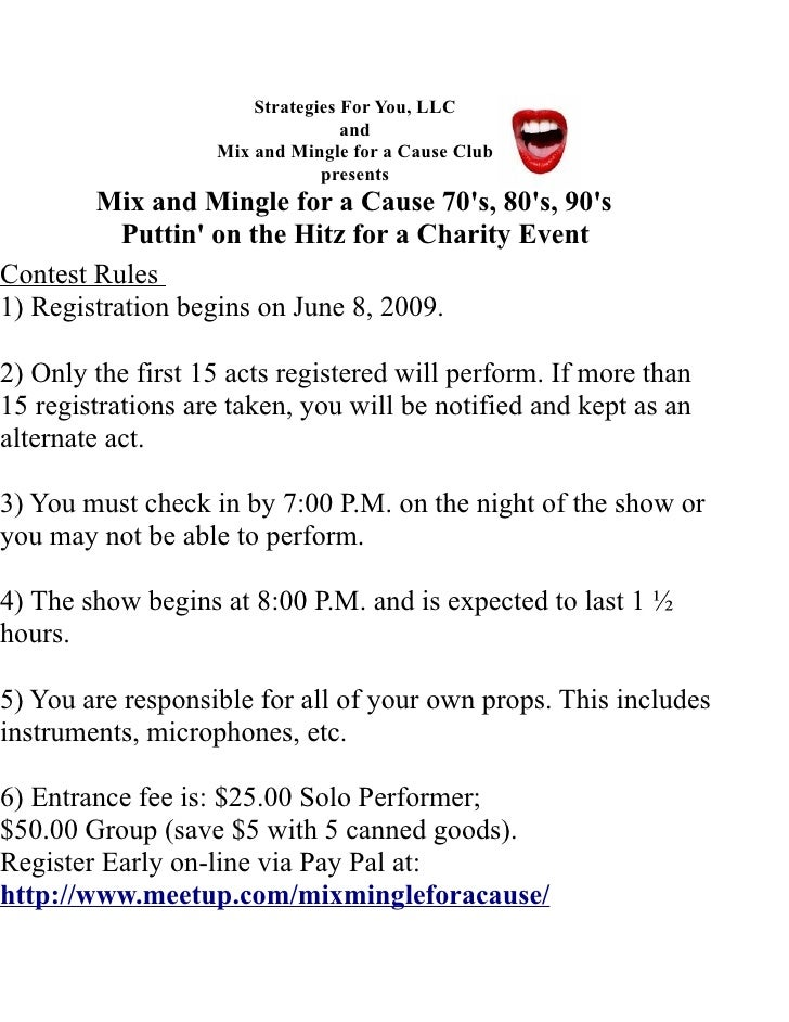 Strategies For You, LLC                                   and                    Mix and Mingle for a Cause Club          ...