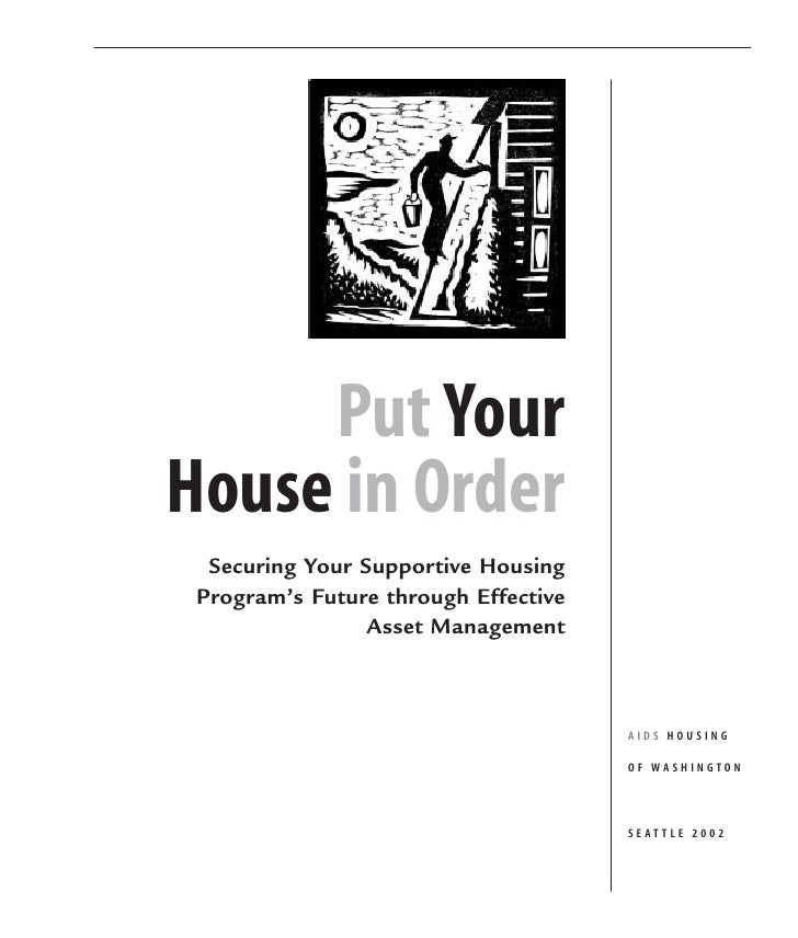 Guidebook: Supportive Housing Asset Management