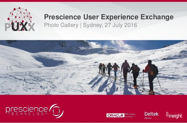 Prescience User Experience Exchange Photo Gallery | Sydney, 27 July 2016