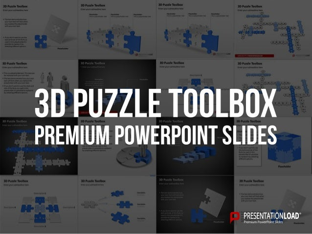 Powerpoint 3d puzzle templates 3d puzzle toolbox powerpoint puzzle template placeholder this is a placeholder text placeholder this is a toneelgroepblik Gallery
