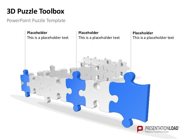Powerpoint 3d puzzle templates 3d puzzle toolbox example template for ppt puzzle maxwellsz