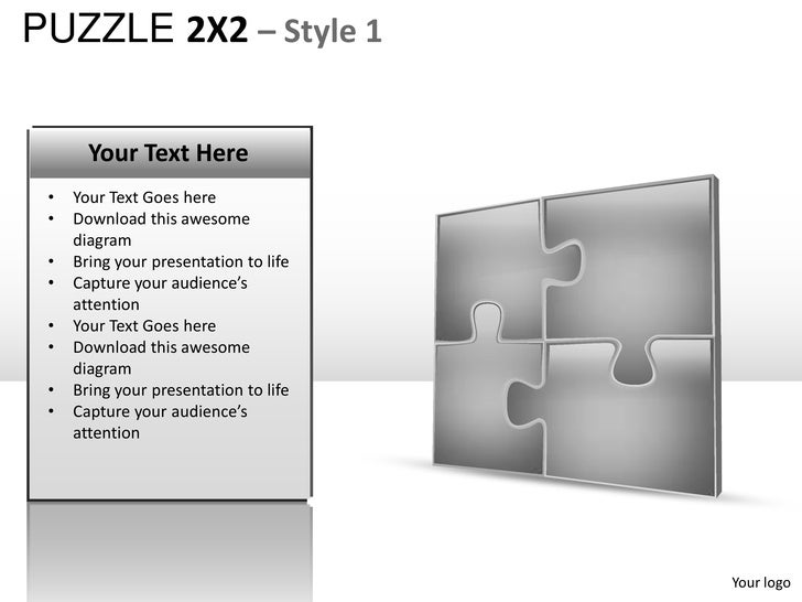 Puzzle 2x2 Style 1 Powerpoint Presentation Templates