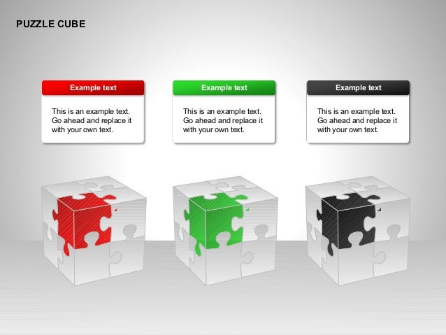 PUZZLE CUBE This is an example text. Go ahead and replace it with your own text. Example text This is an example text. Go ...