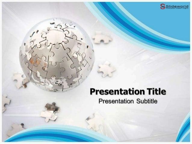 Puzzle globe powerpoint template slide world toneelgroepblik Choice Image