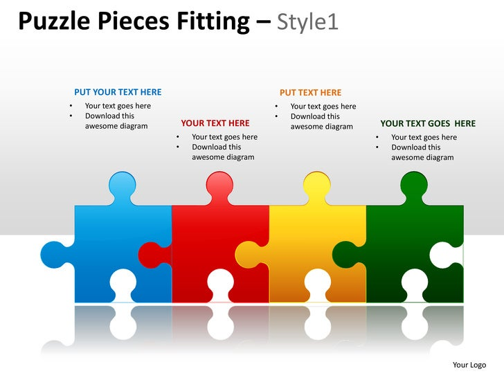 puzzle pieces fitting style 1 powerpoint presentation templates. Black Bedroom Furniture Sets. Home Design Ideas