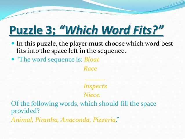 Puzzles And Brainteasers Assignment