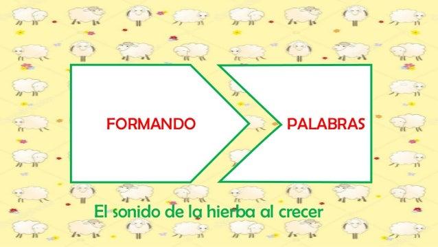 FORMANDO PALABRAS El sonido de la hierba al crecer
