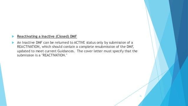 Dmf cover letter