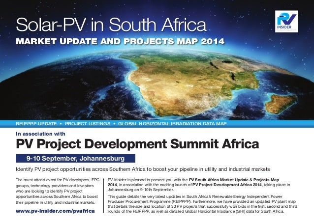 Solar-PV in South Africa Market Update and Projects Map 2014