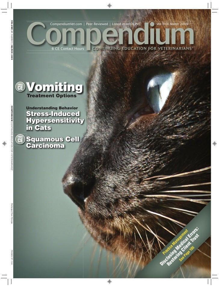 Compendium                  CompendiumVet.com | Peer Reviewed | Listed in MEDLINE   Vol 31(3) March 2009                  ...