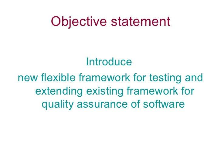 quality assurance objective statement radiovkm.tk