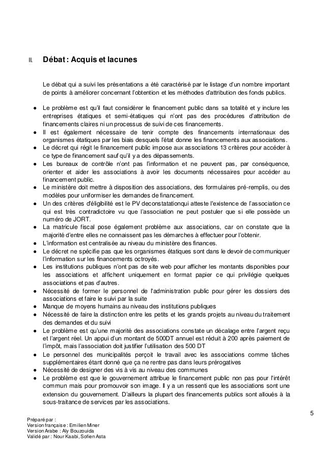 5 Préparé par : Version française : Emilien Miner Version Arabe : Aly Bouzouida Validé par : Nour Kaabi, Sofien Asta II. D...