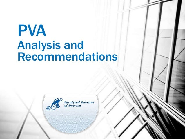 PVAAnalysis andRecommendations                  1