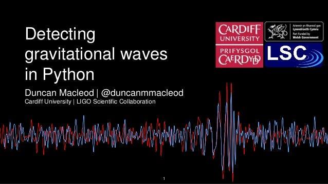 Detecting gravitational waves in Python