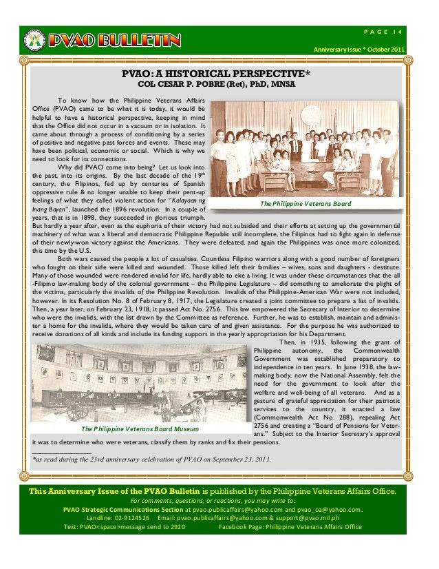 Pvao bulletin anniversary issue