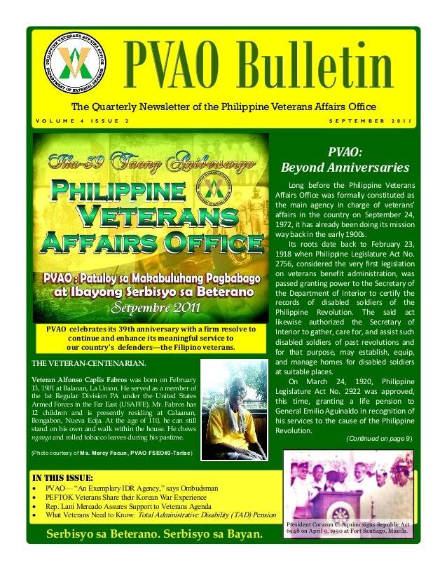 V O L U M E   4   I S S U E                                  PVAO Bulletin              The Quarterly Newsletter of the Ph...
