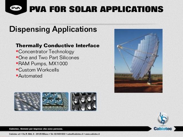 Cabiotec Le Soluzioni Di Pva Per Il Settore Fotovoltaico