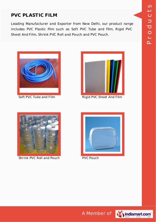 A Member of PVC PLASTIC FILM Leading Manufacturer and Exporter from New Delhi, our product range includes PVC Plastic Film...