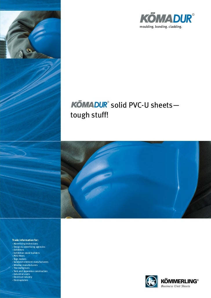 moulding. bonding. cladding.                                                   solid PVC-U sheets—                        ...