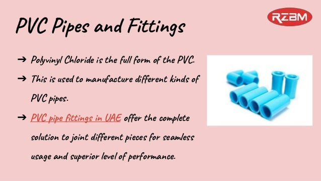 PVC Pipe Fittings in UAE - RZBM Dubai