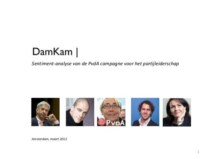 Sentiment-analyse van de PvdA campagne voor het partijleiderschapAmsterdam, maart 2012                                    ...