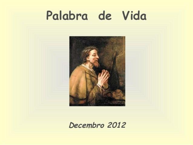 Palabra de Vida   Decembro 2012