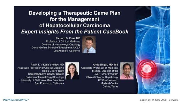 Developing a Therapeutic Game Plan for the Management of Hepatocellular Carcinoma: Expert Insights From the Patient CaseBook.