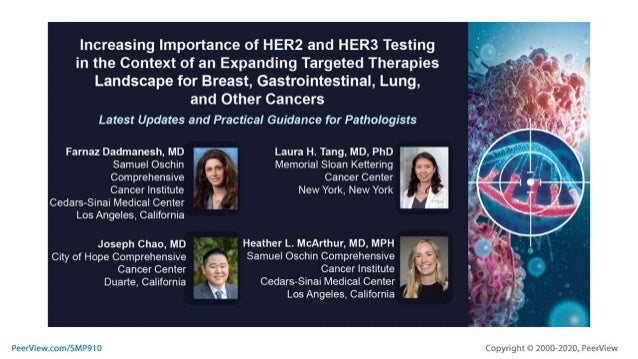 Increasing Importance of HER2 and HER3 Testing in the Context of an Expanding Targeted Therapies Landscape for Breast, Gas...
