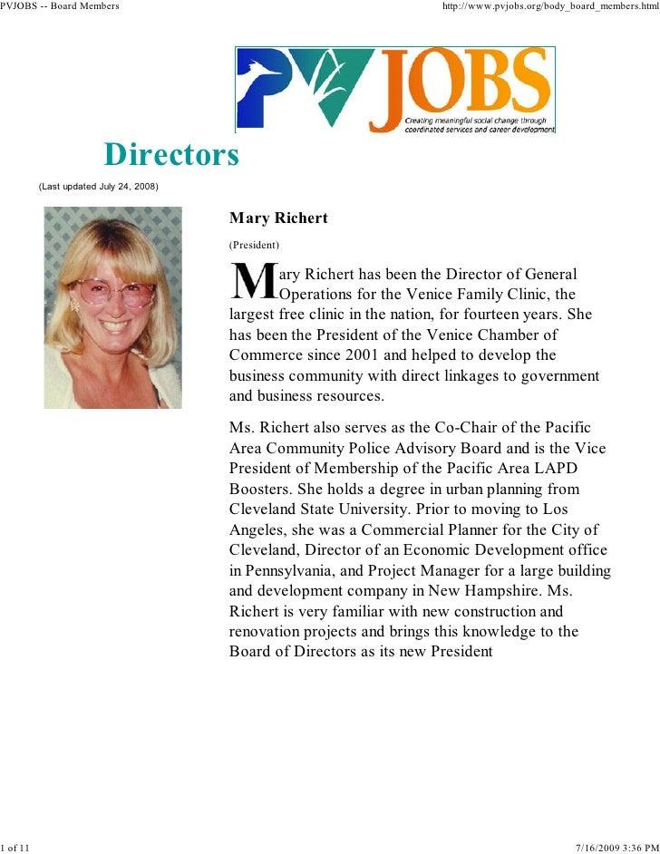 PVJOBS -- Board Members                                                   http://www.pvjobs.org/body_board_members.html   ...