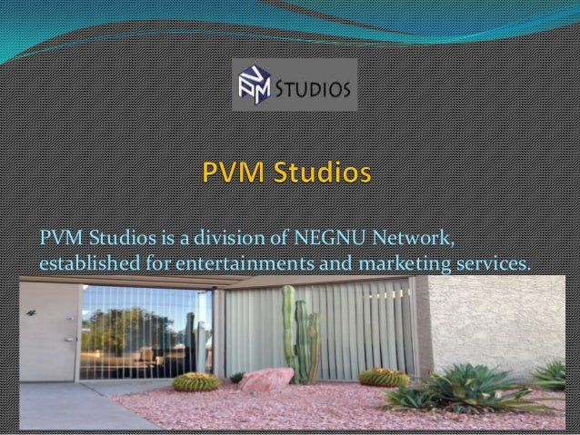 PVM Studios is a division of NEGNU Network,established for entertainments and marketing services.