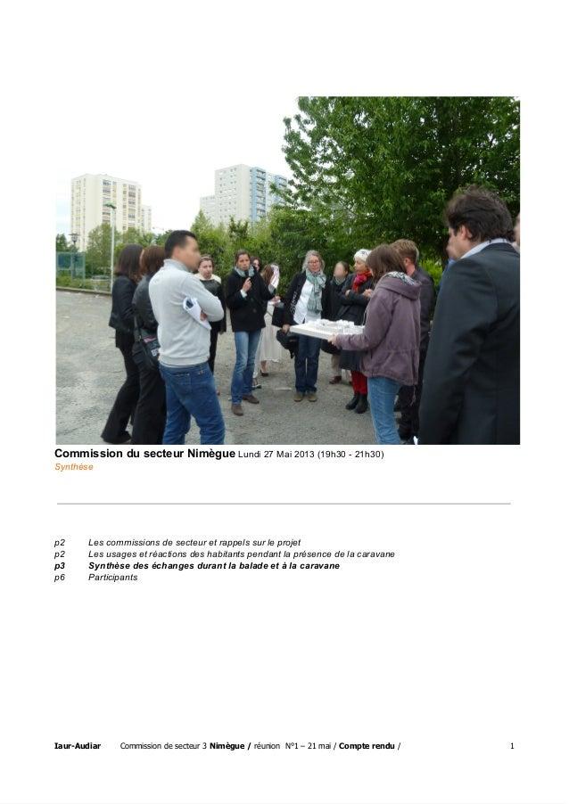 CommissiondusecteurNimègueLundi27Mai2013(19h3021h30) Synthèse p2 Lescommissionsdesecteuretrappelssurlep...