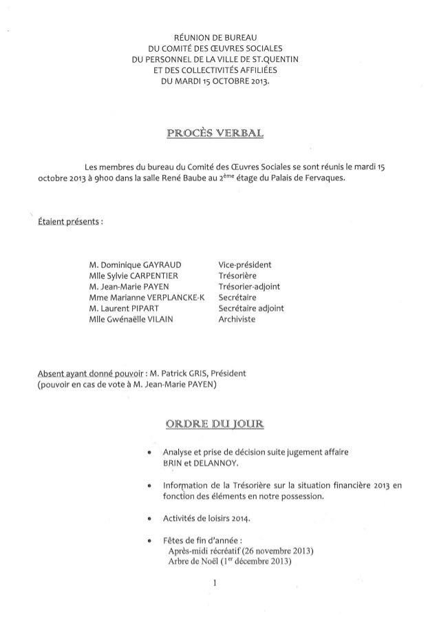 PV Bureau du COS SAINT QUENTIN 15 octobre 2013