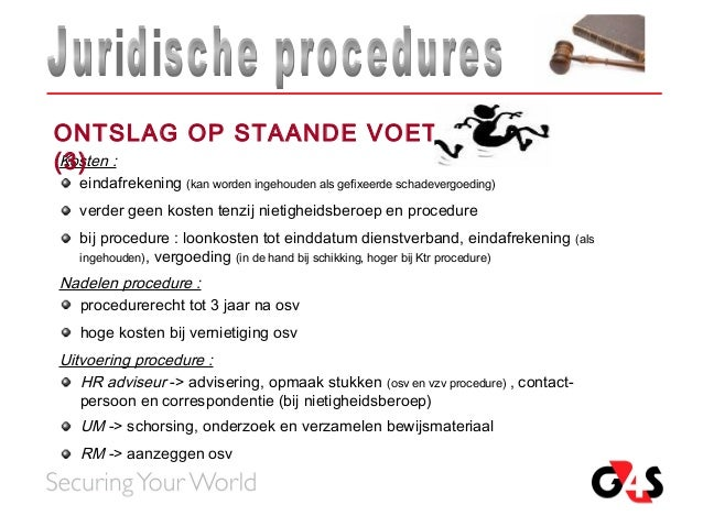 ontslag op staande voet voorbeeldbrief Pvo juridische procedures ontslag op staande voet voorbeeldbrief