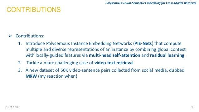 Polysemous Visual-Semantic Embedding for Cross-Modal Retrieval Slide 3