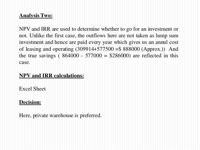 public vs private warehousing case study