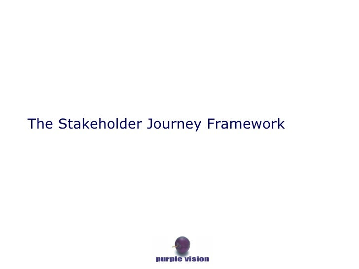 The Stakeholder Journey Framework