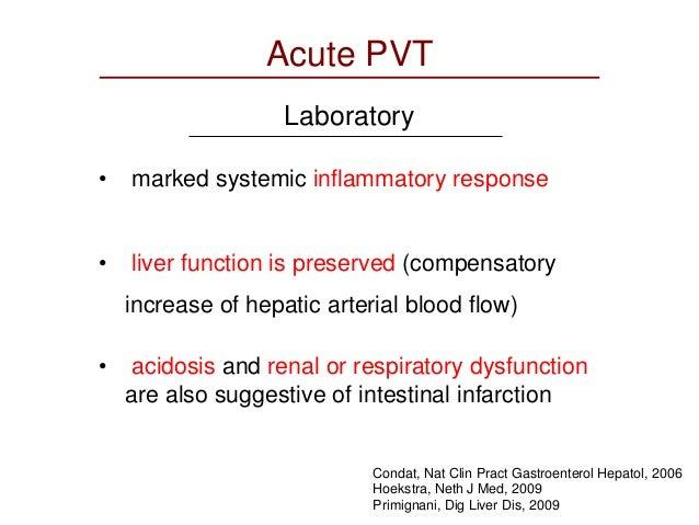 mesenteric vein thrombosis treatment guidelines