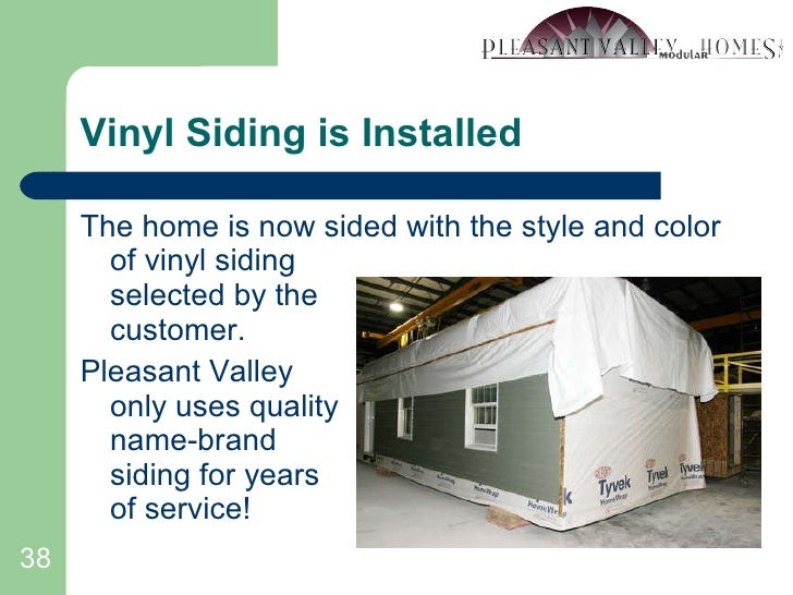 Vinyl Siding is Installed <ul><li>The home is now sided with the style and color of vinyl siding selected by the customer....