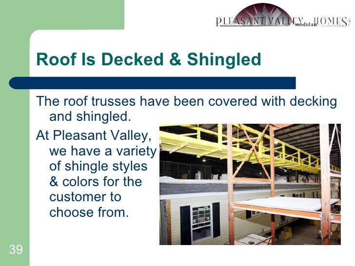 Roof Is Decked & Shingled <ul><li>The roof trusses have been covered with decking and shingled. </li></ul><ul><li>At Pleas...