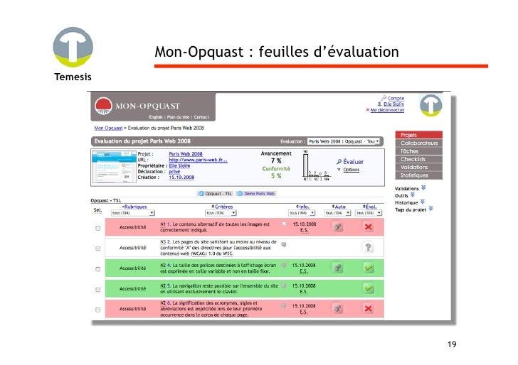 Mon-Opquast : feuilles d'évaluation Temesis                                                     19