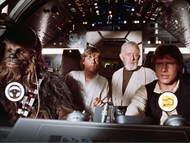 Et on ne vous l'a peut-être pas dit mais Han Solo et Chewbacca faisaient déjà du pair design dans leur Faucon Millenium…