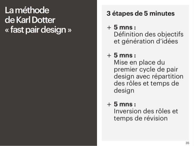 # La méthode de Karl Dotter « fast pair design » Il y a une méthode recommandée par Karl Dotter, un évangéliste du Pair De...
