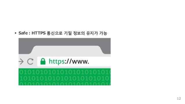 Safe:HTTPS통신으로기밀정보의유지가가능 12