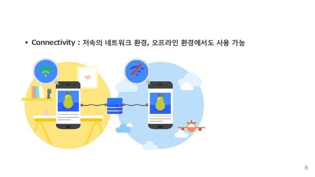 Connectivity:저속의네트워크환경,오프라인환경에서도사용가능 8