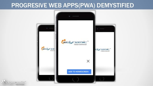 PROGRESIVE WEB APPS(PWA) DEMYSTIFIED
