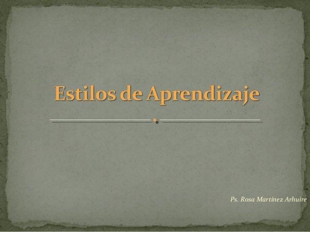 Ps. Rosa Martínez Arhuire