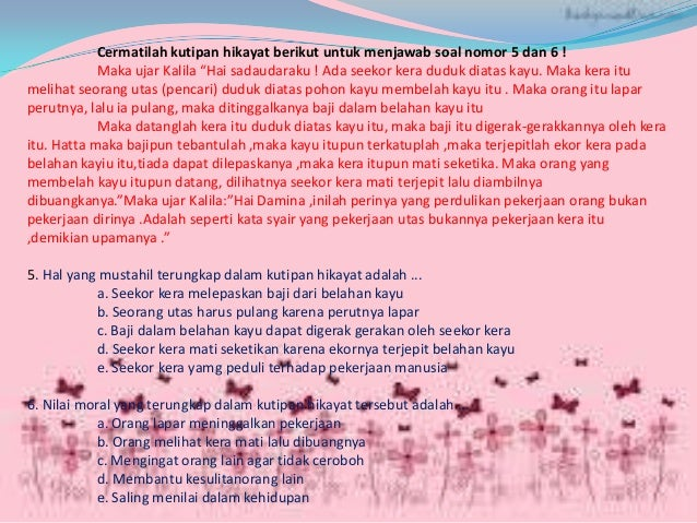 Kisi - kisi bahasa Indonesia UN SMA