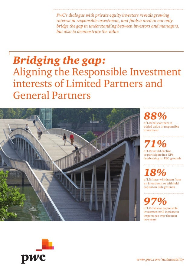 www.pwc.com/sustainability Bridging the gap: Aligning the Responsible Investment interests of Limited Partners and General...