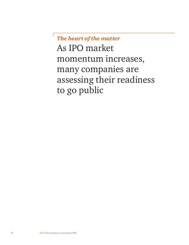 Executing a successful IPO Slide 3